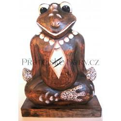 ŽÁBA / ŽABÁK 1 - Dřevěná socha 33cm