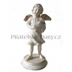 Anděl soška s hvězdou / 17cm