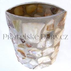 Váza Sklo / Perleť