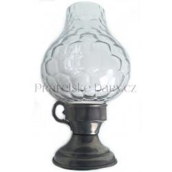 Svícen - přenosná Lucerna - kov/sklo 22 cm