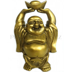 Soška Buddha Bohatství Zlatý / 15cm