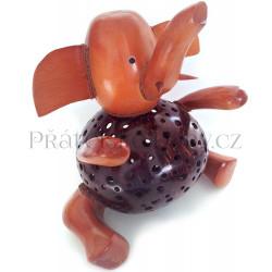 Slon - Stylová Lampička / Dřevo Kokos
