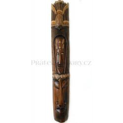 Luxusní Etno Maska 20 Šaman / Dřevo 1m