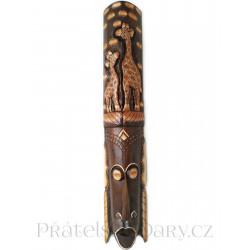 Luxusní Etno Maska 27 Žirafa / Dřevo 1m