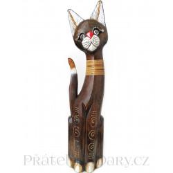 Kočka 12 dřevěná Socha / 50 cm