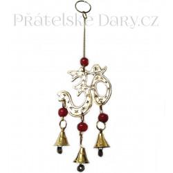 Zvonkohra Zvonek symbol Óm / Mosaz 20 cm