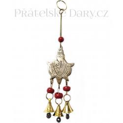 Zvonkohra Zvonek Ganesha / Mosaz 20 cm