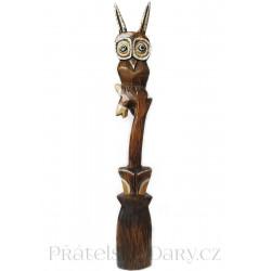Sova krásná XL Socha / Dřevo 80cm