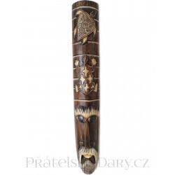 Luxusní Etno Maska 3 Šaman / Dřevo 1m