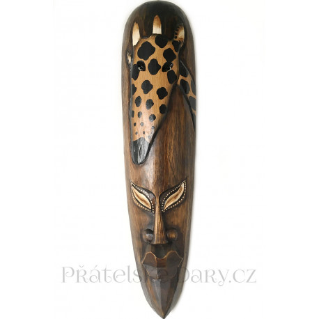 Etno Maska 27 Žirafa / Dřevo 50 cm