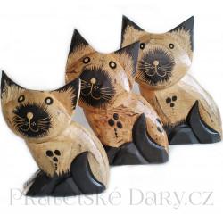Kočka sada 3ks/ Dřevo 10 - 20 cm