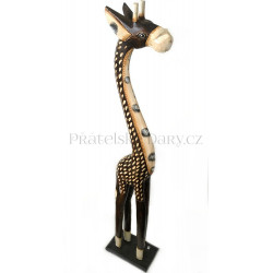 Žirafa 2 Socha / Dřevo 50 cm