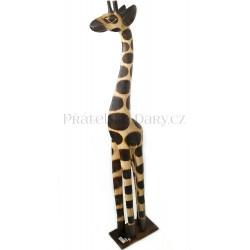 Žirafa 4 Socha / Dřevo 50 cm
