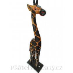 Žirafa 6 Socha / Dřevo 50 cm