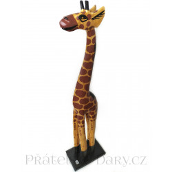 Žirafa 3 Socha / Dřevo 50 cm