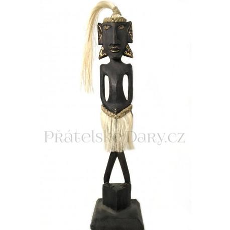 Etno Socha Šaman / Dřevo 55 cm