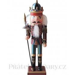 Louskáček Voják Král / Dřevo 31 cm