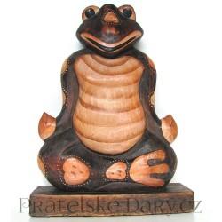 ŽÁBA / ŽABÁK 3 - Dřevěná socha 33cm