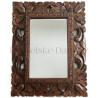 Stylové Zrcadlo - Dřevěný řezbovaný rám / 24x30cm