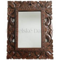 Stylové Zrcadlo - dřevěný řezbovaný rám / 30x40cm