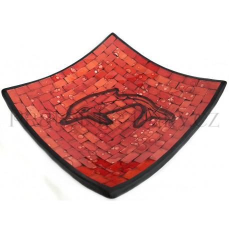 Mísa Terracota - Delfín skleněná mozaika / DO246