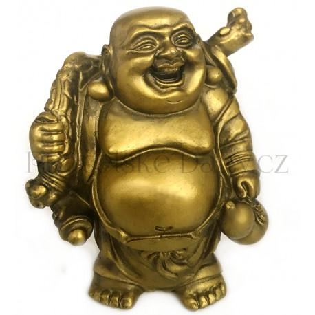 Buddha Bohatství zlatý / soška 8cm