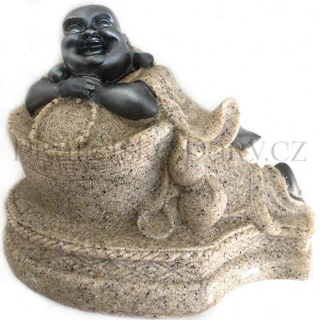 Buddha Feng Shui - Soška Pískovec 2/10 cm