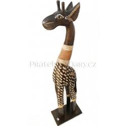 Žirafa 7 - Dřevěná Socha / 60cm