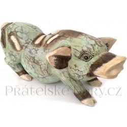 Prase - dřevěná Soška Čuník / 35cm