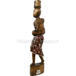 Etno Socha Afrika - Žena a Dítě / Dřevo 60cm
