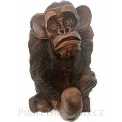 Opice - Penis / Socha Teak
