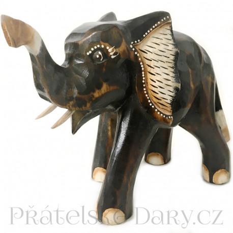 Krásný Slon - Dřevěná soška 22cm