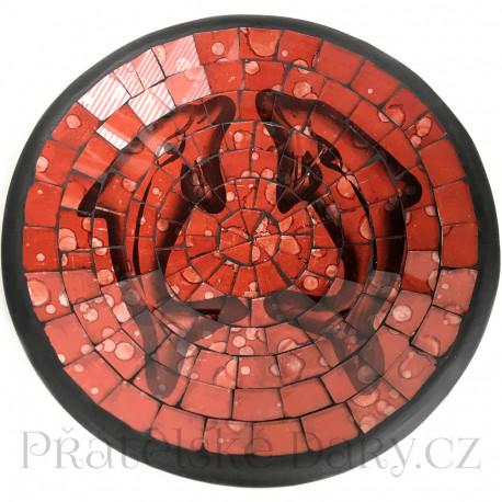 Mísa Terracota - Delfín skleněná Mozaika / Č205