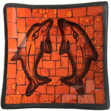 Mísa Terracota - Delfíni skleněná Mozaika / Č154