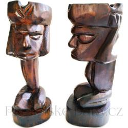 Etno Soška domorodec - Popelník / Dřevo 22cm