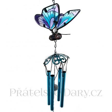 Krásná Zvonkohra Motýl / Kov 70cm