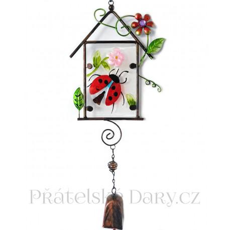 Zdobený Zvonek / Zvonkohra Beruška 47cm