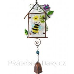 Zdobený Zvonek / Zvonkohra Včela 47cm