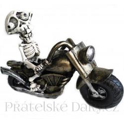 Šílený Motorkář - Motorka Kostlivec 20cm