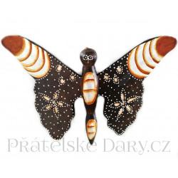 Motýl 1 soška - dekorace / Dřevo 18x25cm