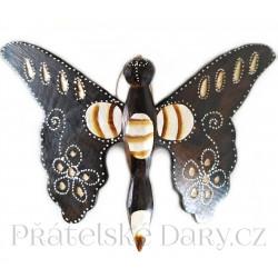 Motýl 2 soška - dekorace / Dřeo 18x25cm