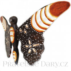 Motýl 3 soška - dekorace / Dřevo 20x28cm