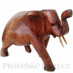 Krásný Slon soška / Dřevo 10x16cm