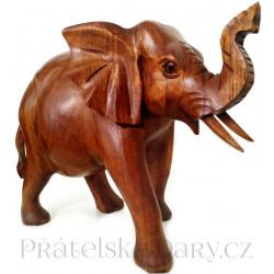 Krásný Slon soška / Dřevo 18x23cm