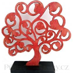 Strom života dekorace / červená 30x30c,