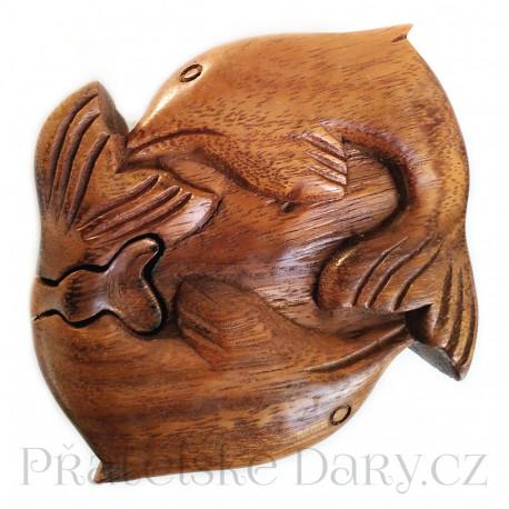 Delfín - Magická Krabička / Šperkovnice dřevo