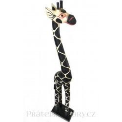 Žirafa 8 Socha / Dřevo 50 cm