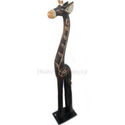 Žirafa 9 Socha / Dřevo 50 cm