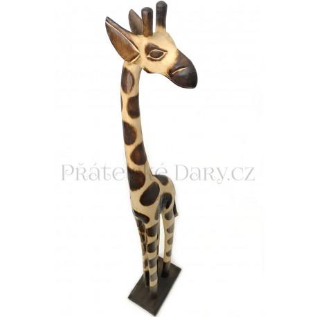 Žirafa 11 Socha / Dřevo 60 cm