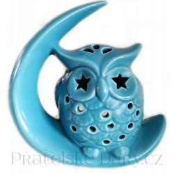 Aromalampa Sova měsíc / Keramika